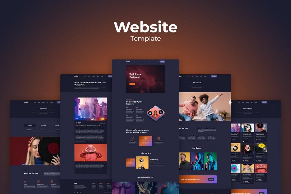 Modern Adobe XD Website Templates Kit