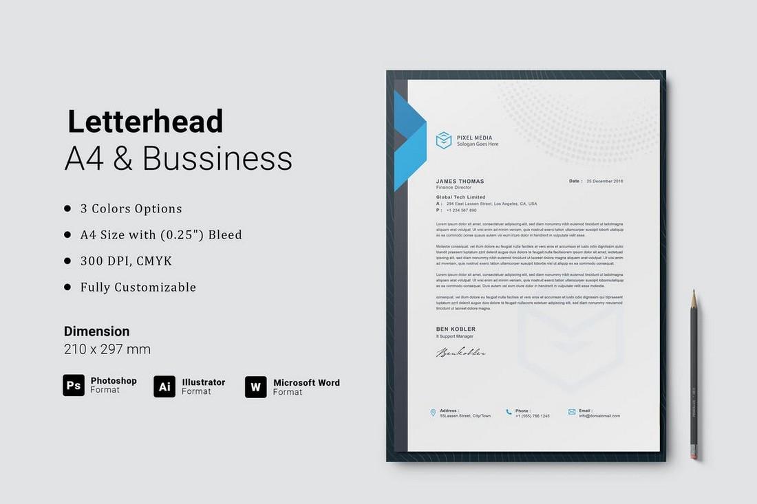 Modern Agency Letterhead Template