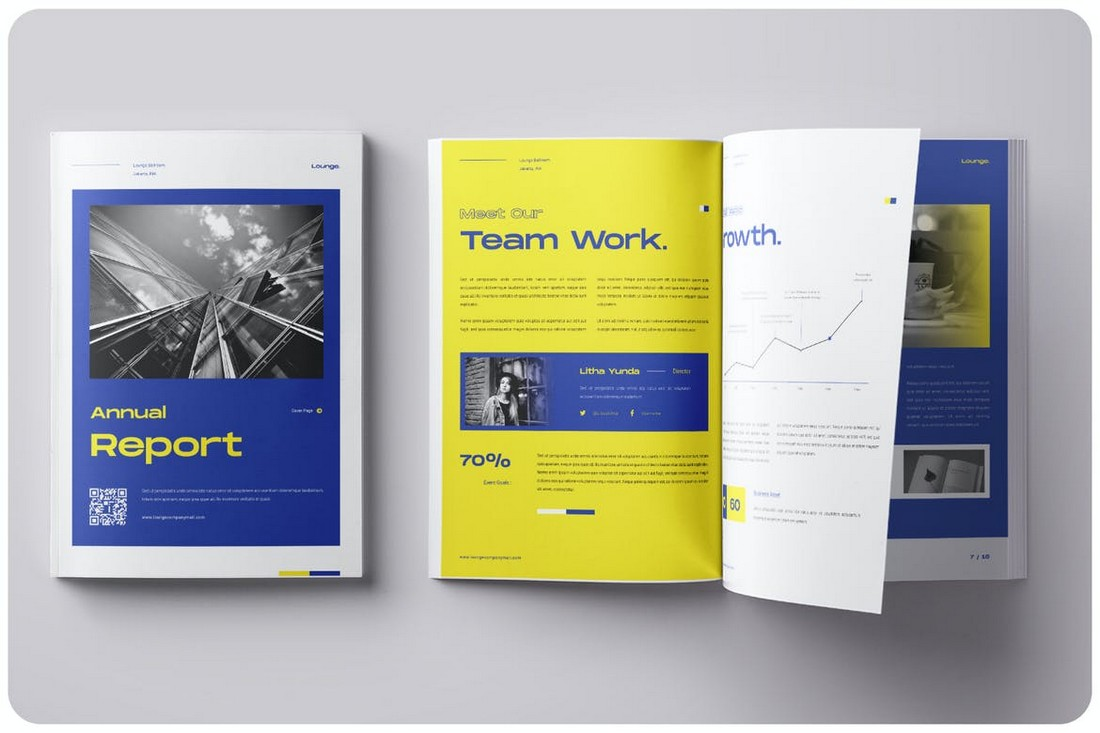 Modern Annual Report INDD Template