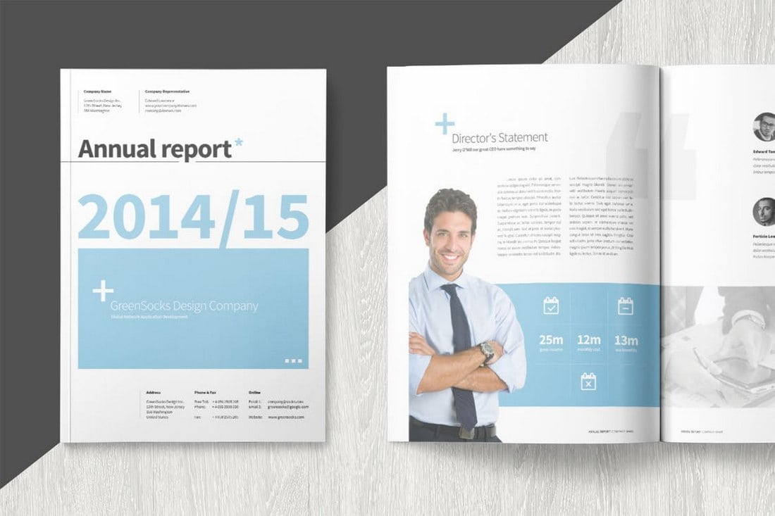 Modern-Annual-Report-Template 20+ Annual Report Templates (Word & InDesign) 2018 design tips