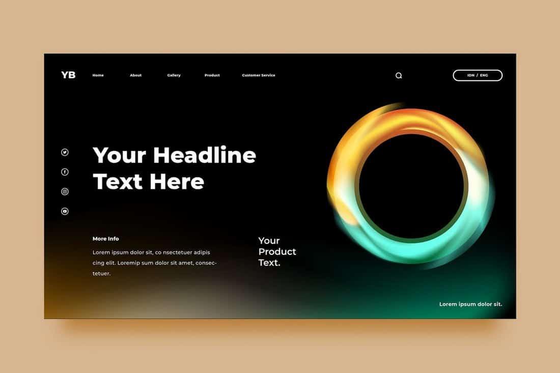 Modern Brand Background Template