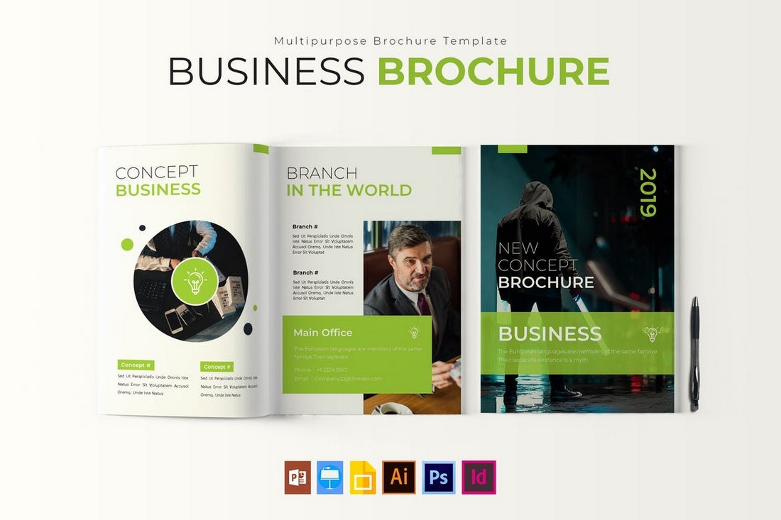 Modern-Business-Brochure-Report-Template 50+ Annual Report Templates (Word & InDesign) 2021 design tips