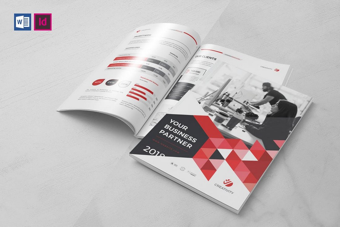 Modern Business Brochure Word Template