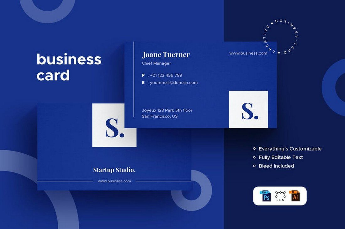 Modern Business Card Template With Minimal Design