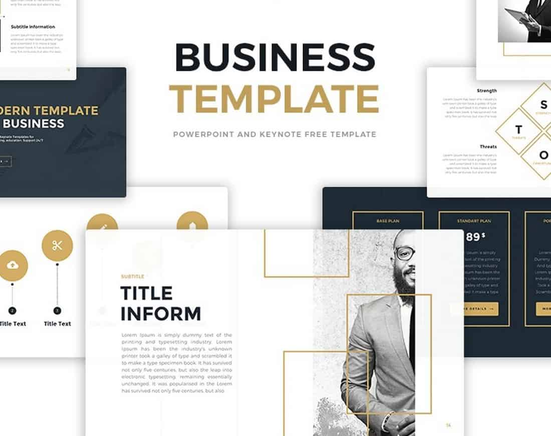 Modern Business Free PowerPoint Template