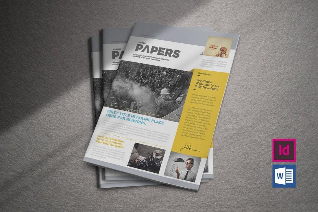 Modern-Business-Newsletter-Template 20+ Best InDesign Newsletter Templates (Free & Premium) design tips  Inspiration