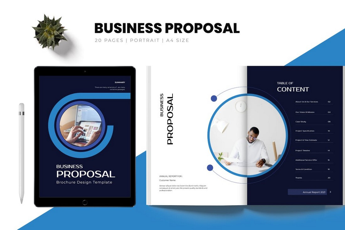 Modern Business Proposal Brochure Template