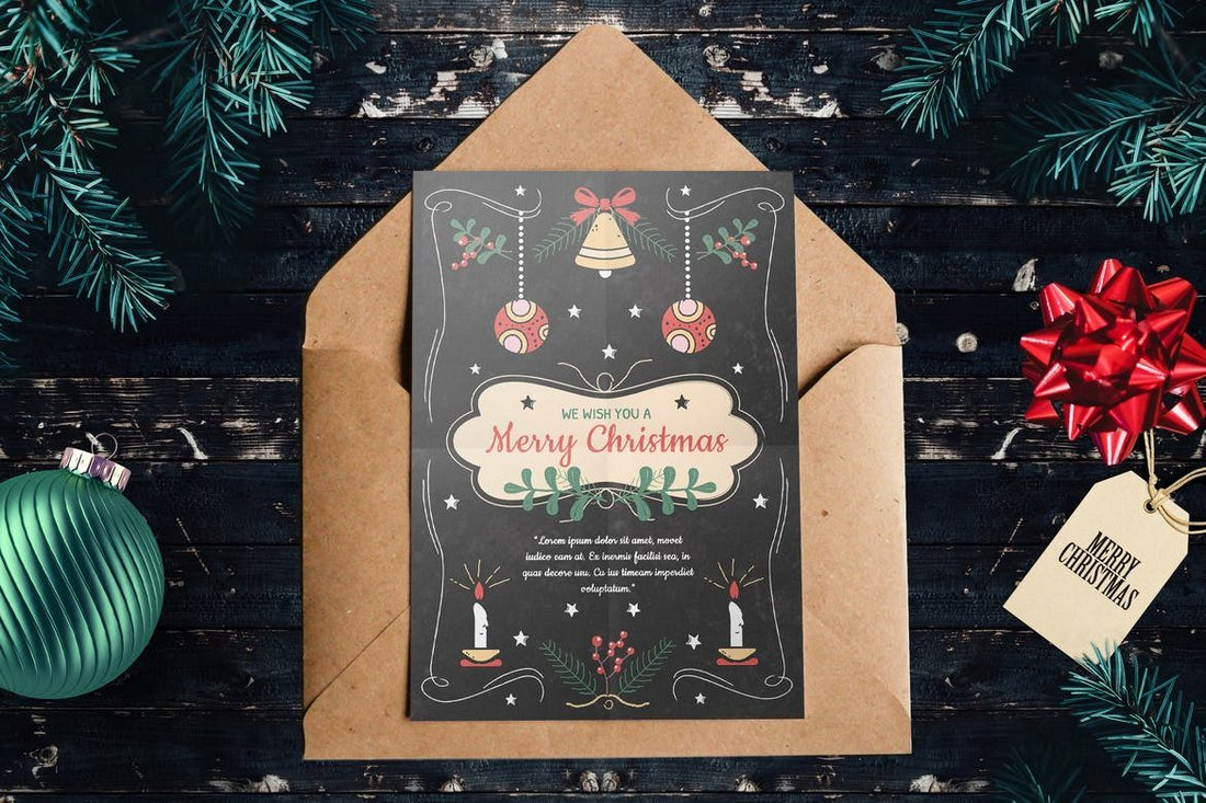 Modern-Christmas-Card-Template 20+ Best Christmas Card Templates for Photoshop design tips