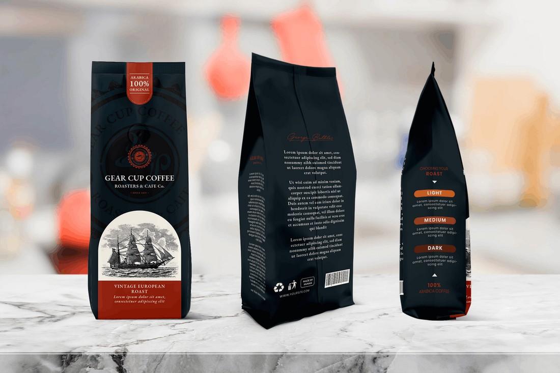 Modern Coffee Bag Packaging Template