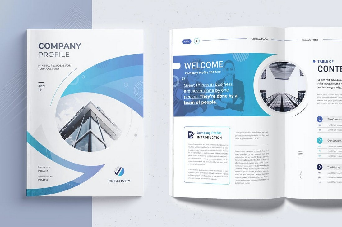 Modern Company Profile Word Document Template