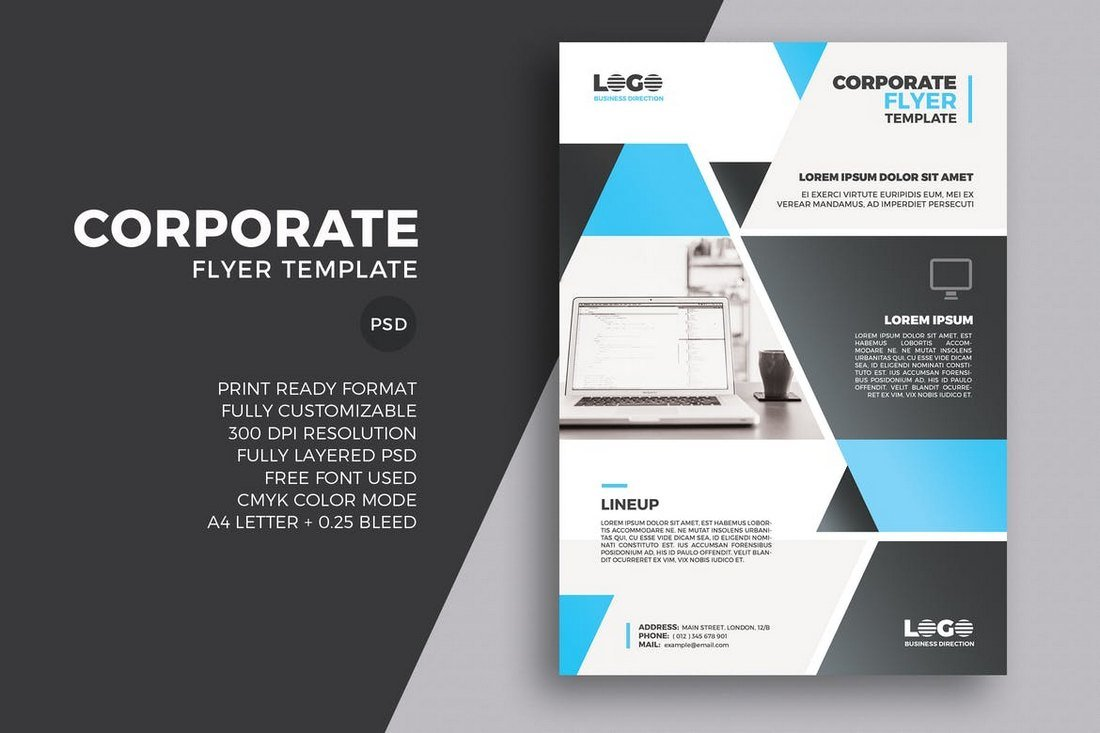 20 business flyer templates word psd design shack modern corporate business flyer accmission Gallery