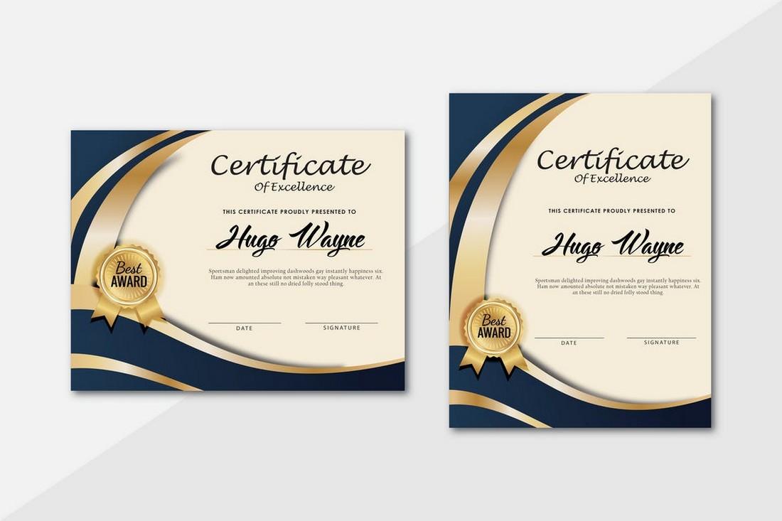 Modern & Corporate Certificate Template