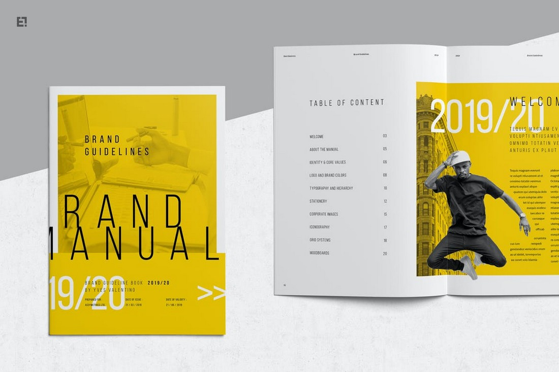 Modern-Creative-Brand-Manual-Template 20+ Best Brand Manual & Style Guide Templates 2020 (Free + Premium) design tips
