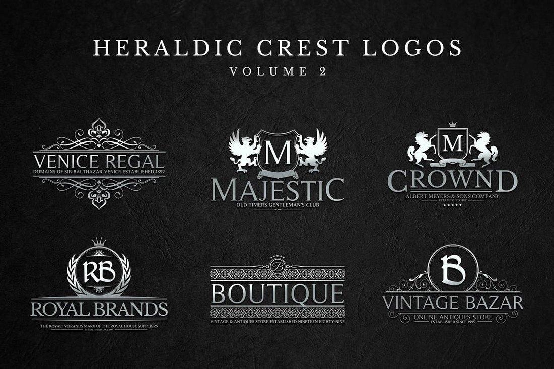 Modern-Crest-Logos-Sign-Templates 20+ Best Sign Templates & Mockups design tips