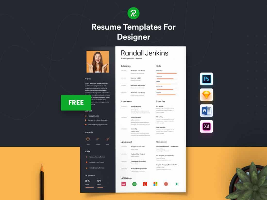 Modern Designer Resume Template