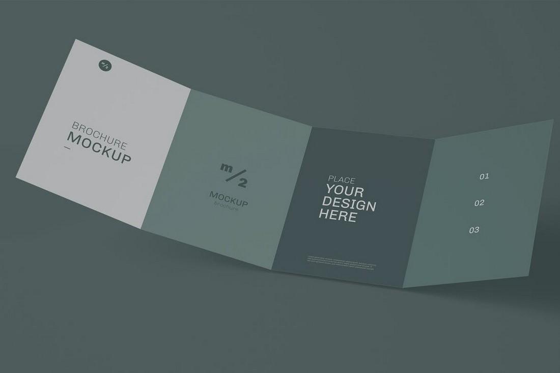 Modern Fourfold Brochure Mockup