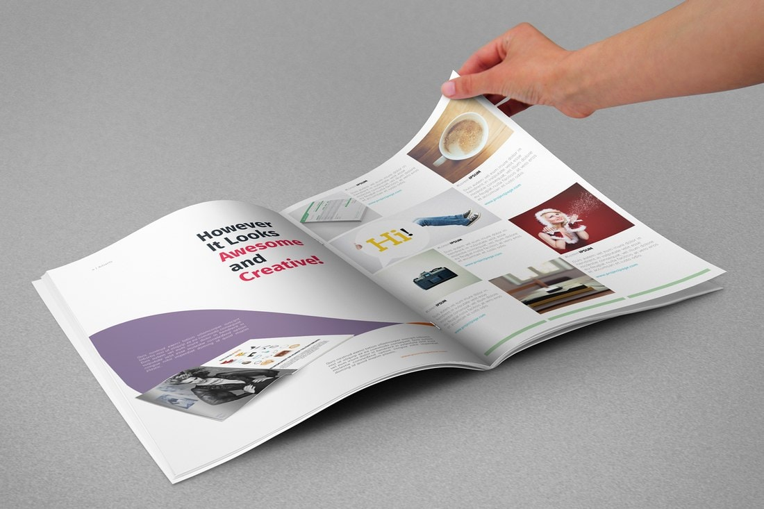 Modern Free InDesign Magazine Template