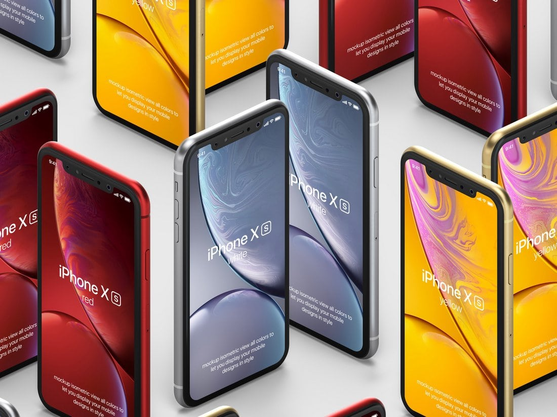 Modern Free iPhone XR PSD Mockup