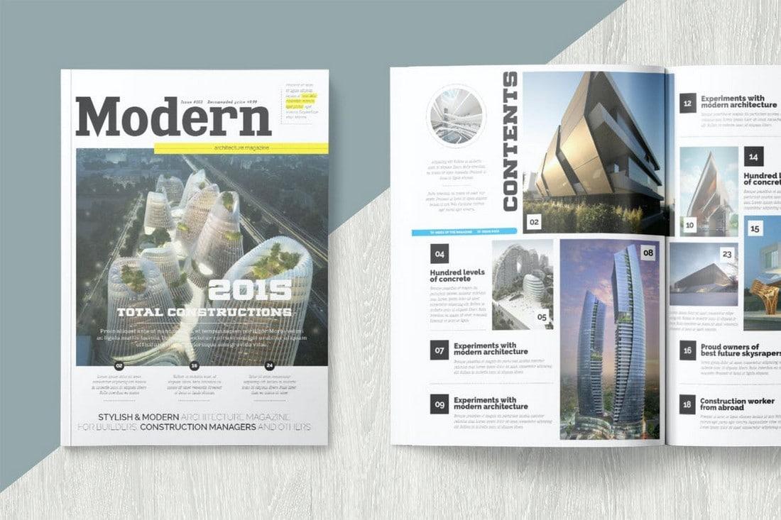 Modern-InDesign-Magazine-Template-1 30+ Best InDesign Magazine Templates 2021 (Free & Premium) design tips