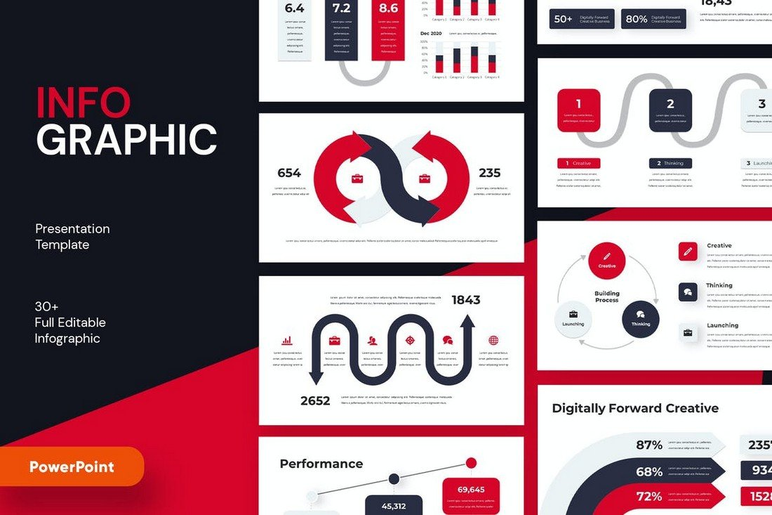 Modern Infographic Powerpoint Template