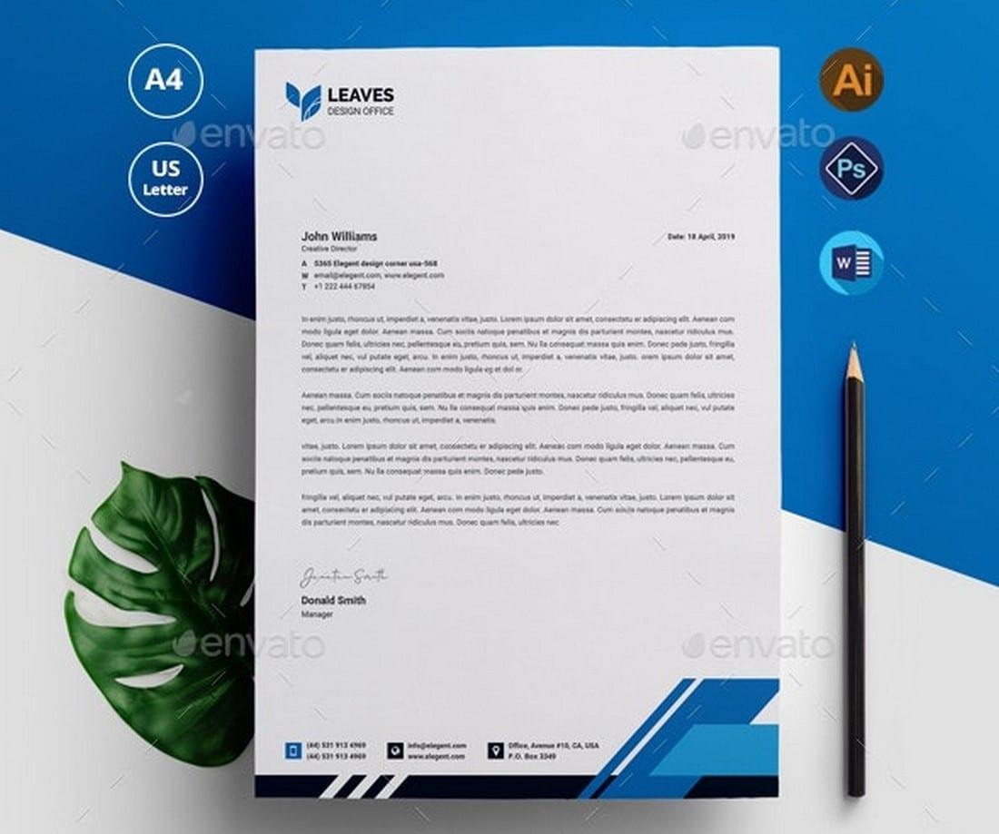 Modern-Letterhead-Template-PSD-Docx 20+ Best Microsoft Word Letterhead Templates (Free & Premium) design tips  Inspiration