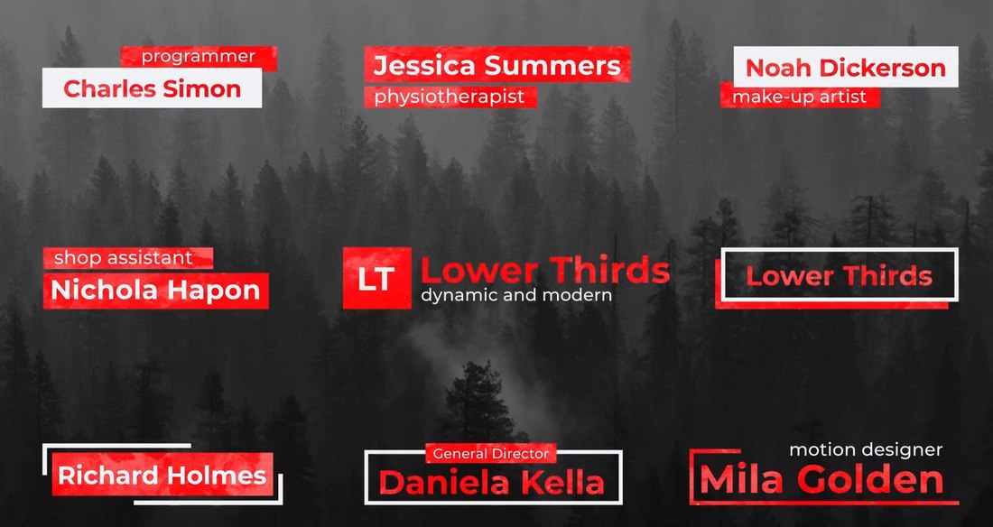 Modern Lower Thirds Templates for Premiere Pro