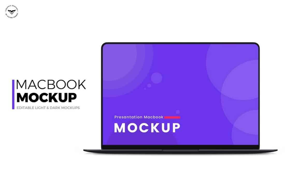 Modern Macbook Laptop Mockup
