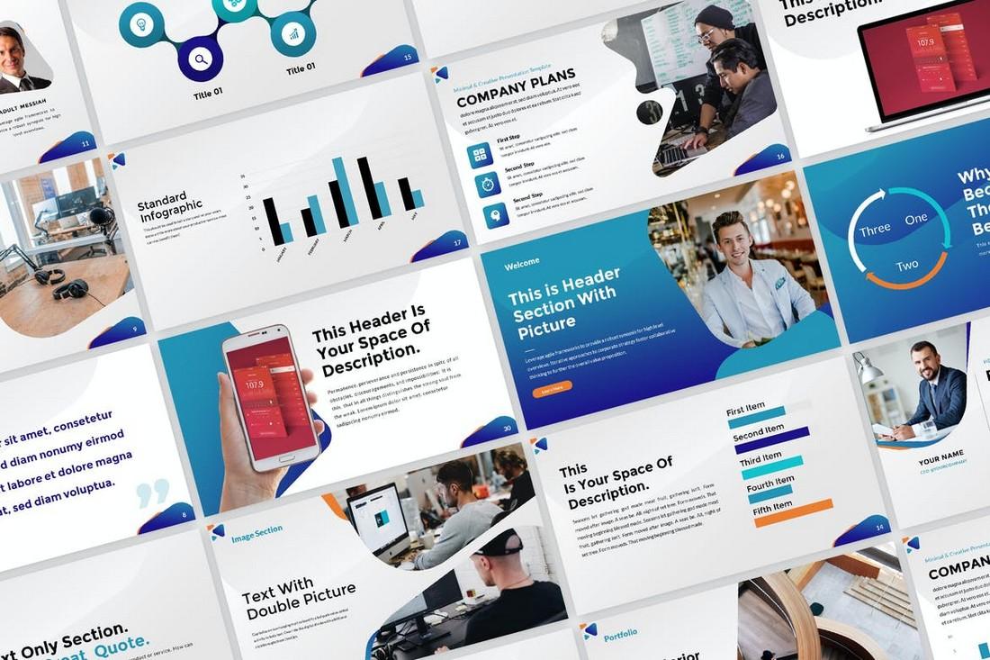 Modern Marketing Plan Presentation Template