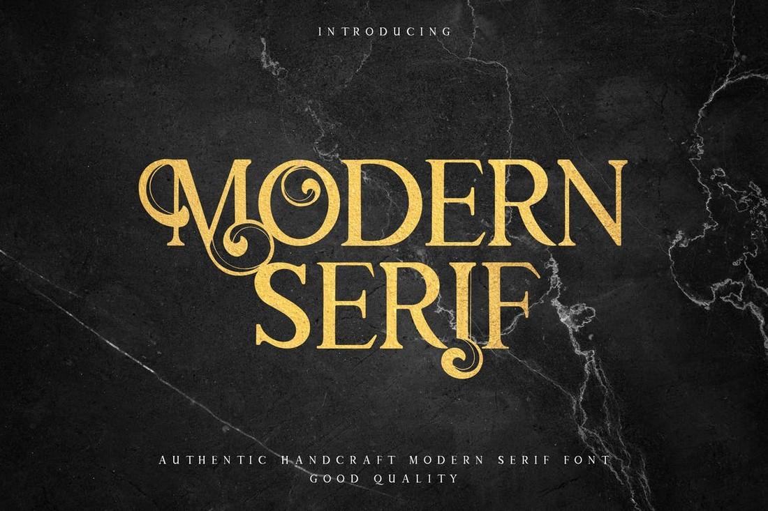 Modern Mode - Modern Serif Poster Font