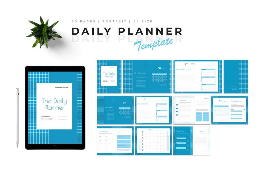 Modern & Multipurpose Daily Planner Template