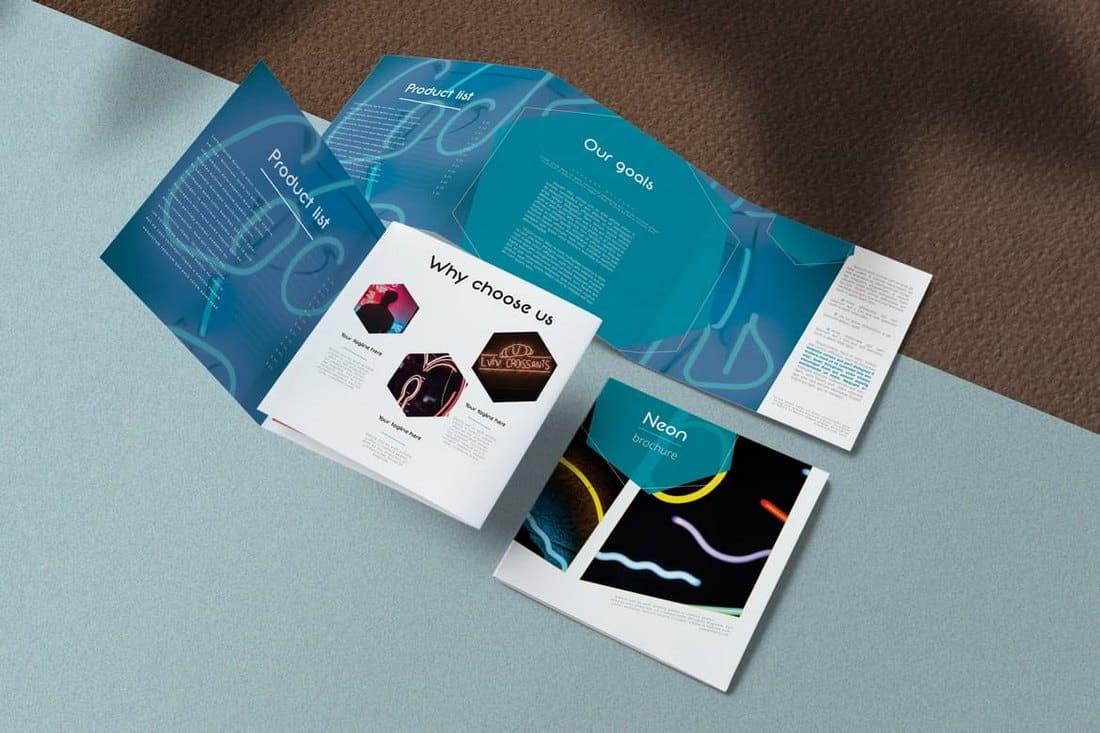Modern Neon Brochure Template