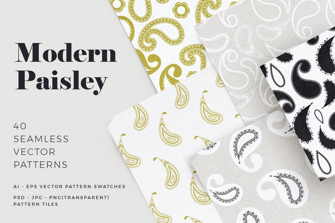 Modern-Paisley-Seamless-Patterns 50+ Best Free Photoshop Patterns 2021 design tips