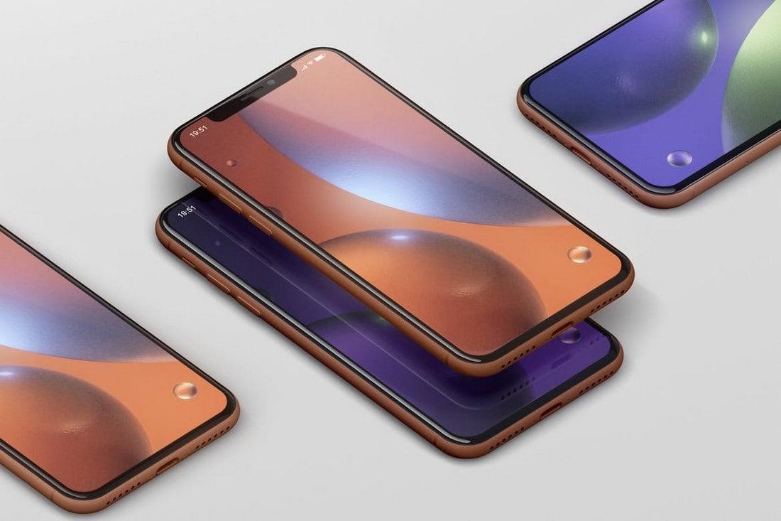 Modern Phone XR Mockup