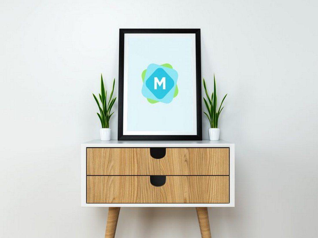 Modern-Poster-Frame-Mockup-PSD 30+ Best Poster Mockup Templates 2021 design tips