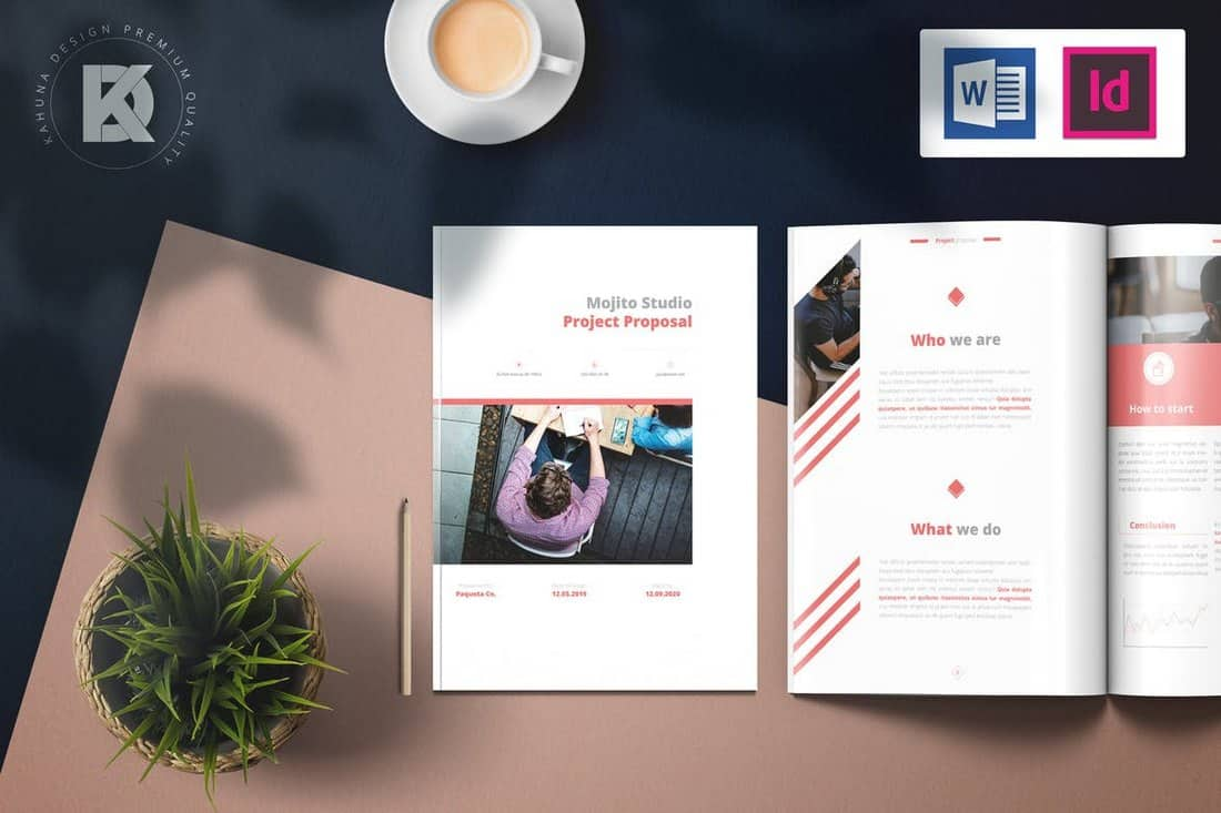 Modern Project Proposal Brochure Template