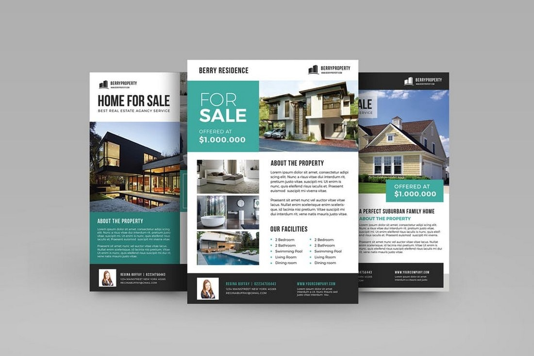 Modern Real-Estate Flyer Template