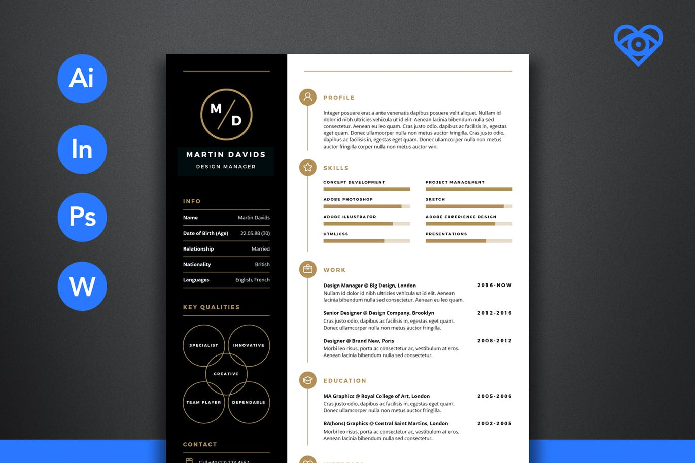 50 best cv resume templates of 2018 design shack this professional resume comes with a modern design that quickly attracts anyones attention it also comes in a4 size and in 3 pages for the resume thecheapjerseys Image collections