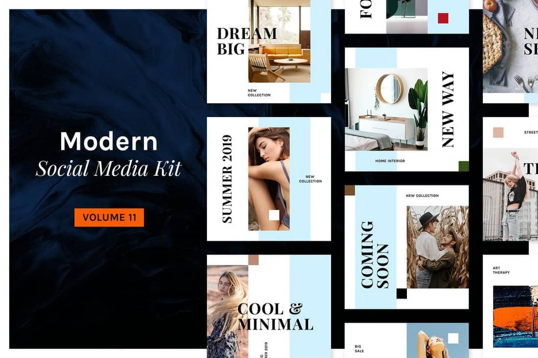 6abf8c00b 50+ Best Instagram Templates & Banners | Design Shack