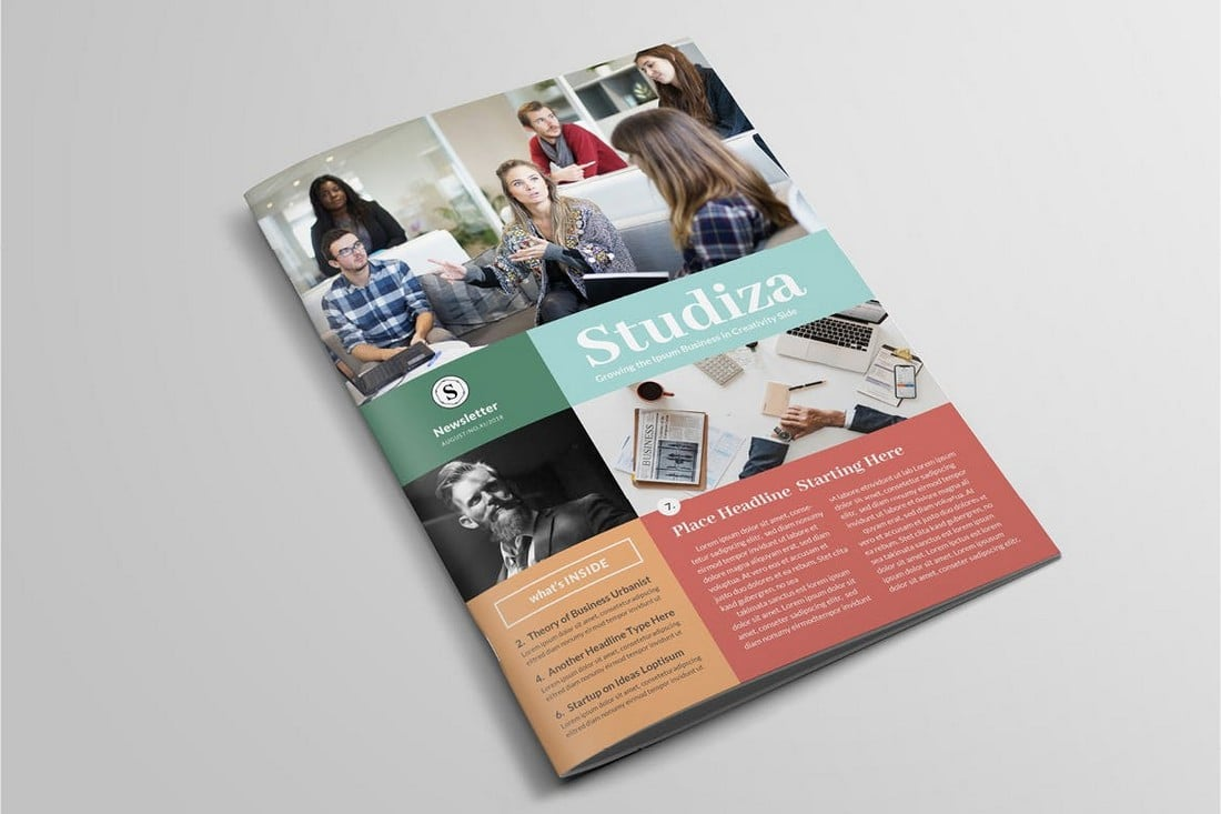 Modern-Stylish-InDesign-Newsletter-Template 20+ Best InDesign Newsletter Templates (Free & Premium) design tips  Inspiration