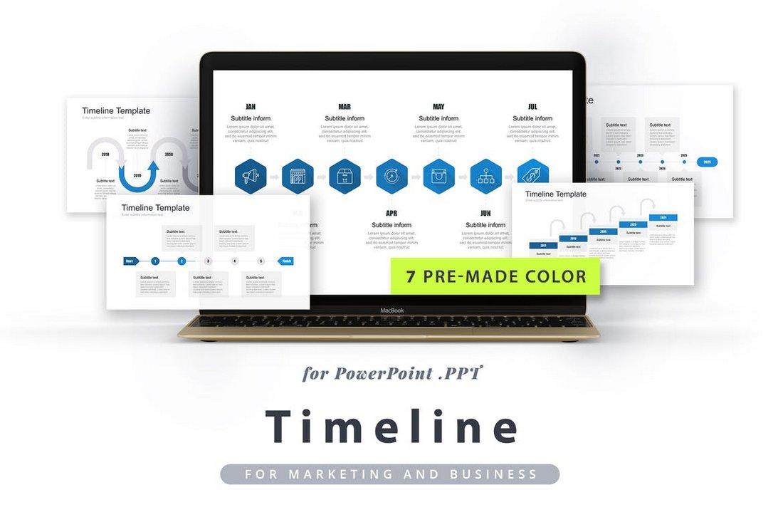 Modern Timeline PowerPoint Template