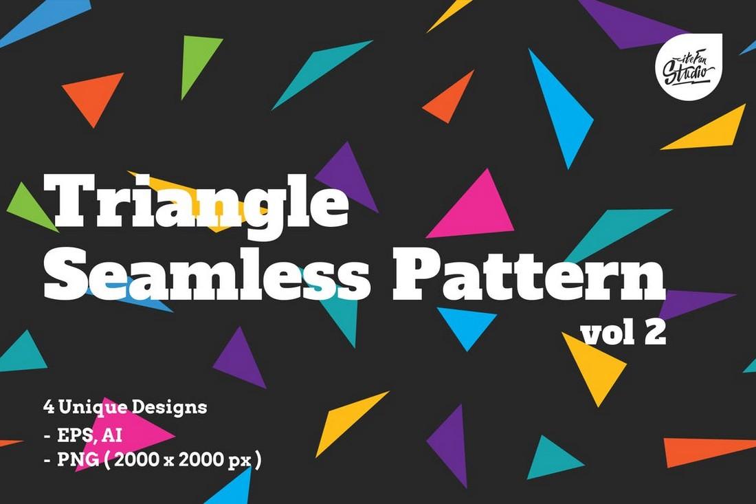Modern Triangle Seamless Patterns