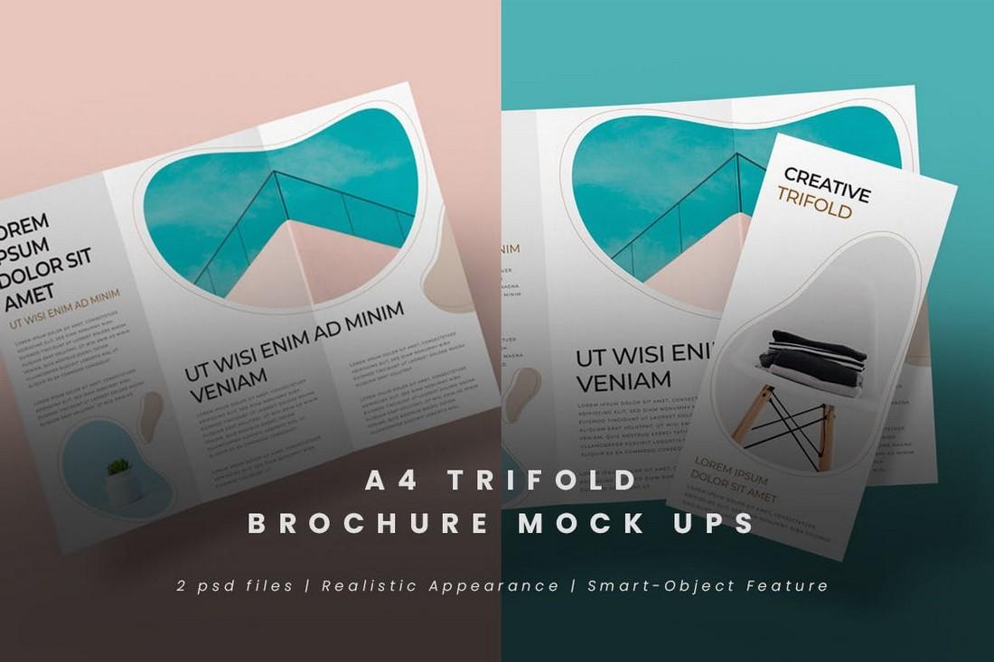 Modern Trifold Brochure Mockups
