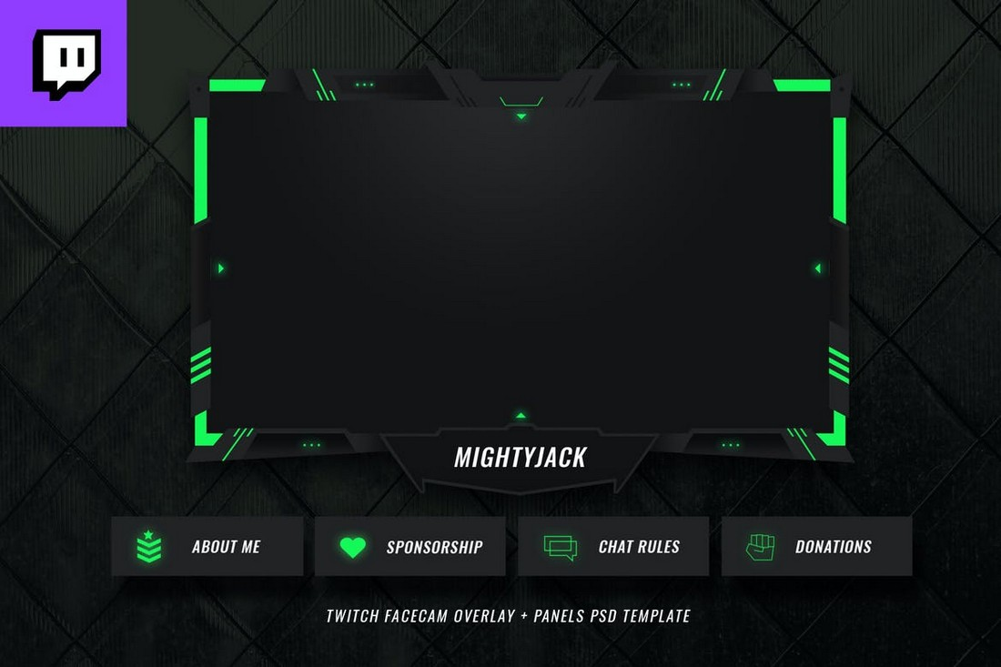 Modern-Twitch-Overlay-Template 15+ Best Twitch Stream Overlay Templates in 2020 (Free & Premium) design tips