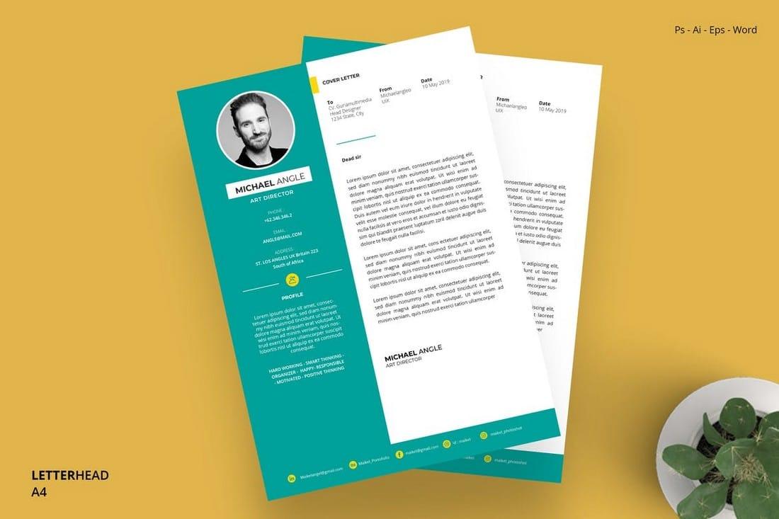 Modern-Word-Letterhead-Template 20+ Best Microsoft Word Letterhead Templates (Free & Premium) design tips  Inspiration
