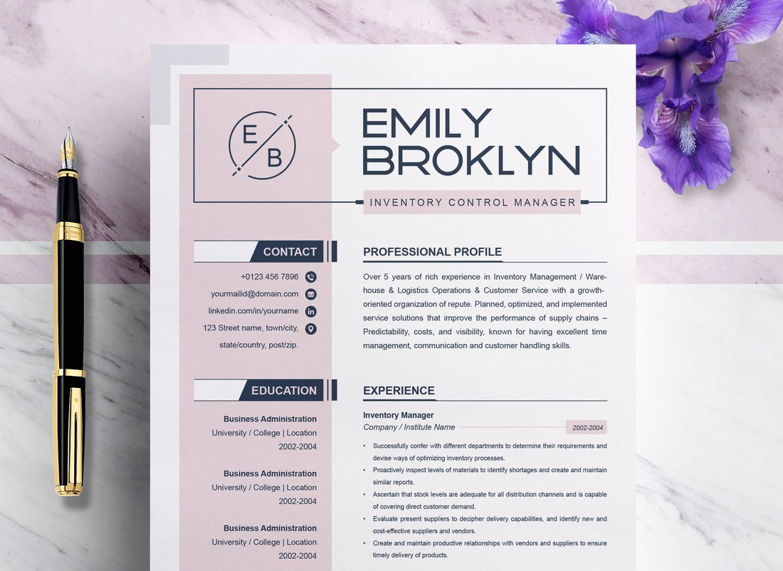 Modern and Creative Free Word Resume Template