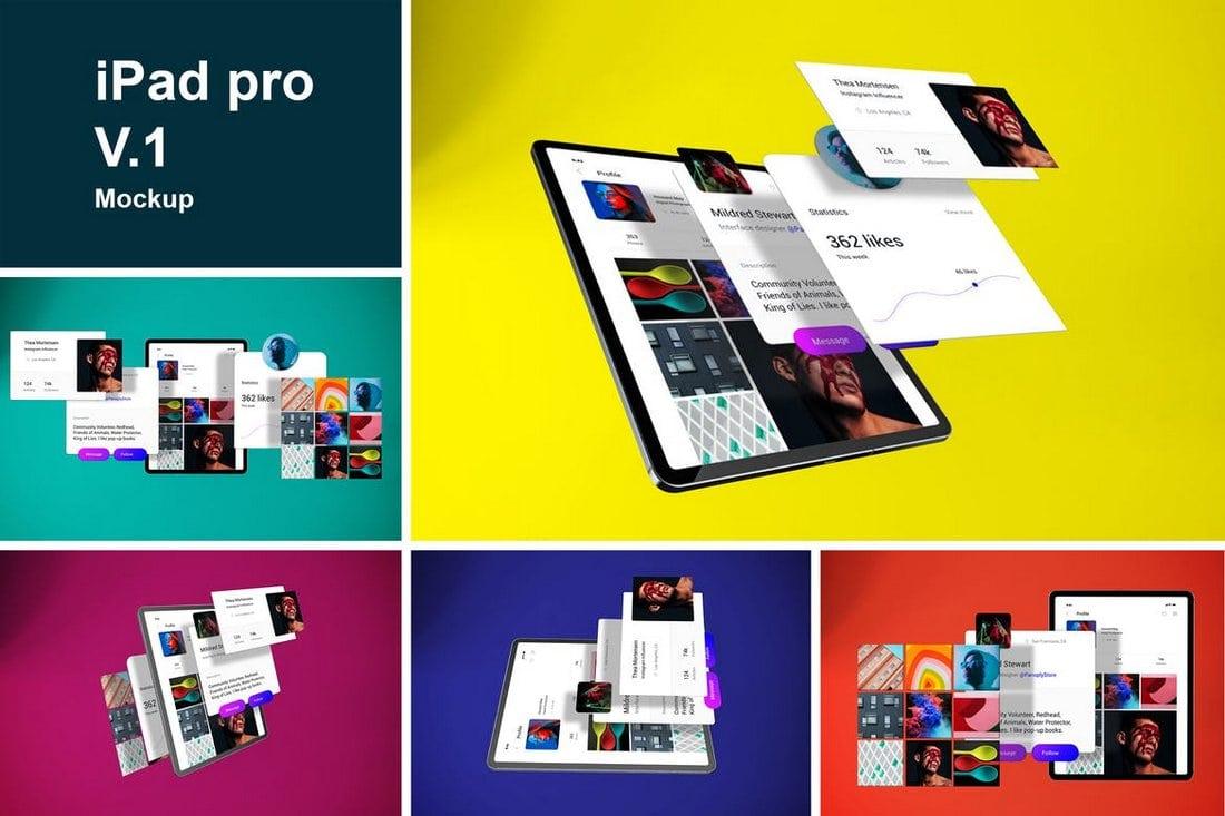 Modern iPad Pro Mockup Templates