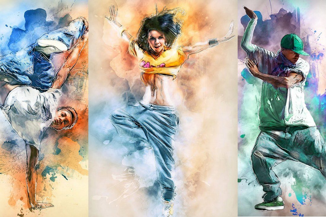 ModernArt-3-Photoshop-Action 20+ Best Watercolor Photoshop Actions design tips