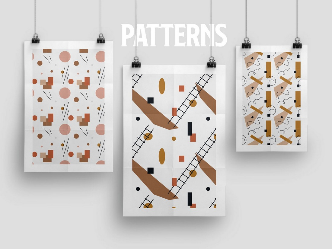 Modernist - Free Abstract Vector & Pattern Set