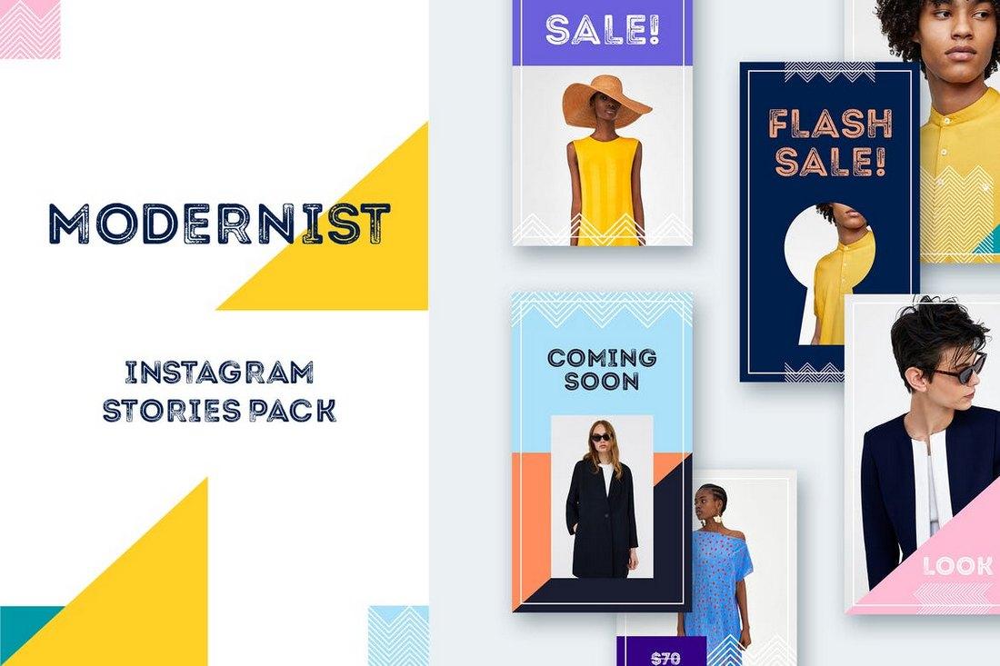 Modernist Instagram Stories Pack