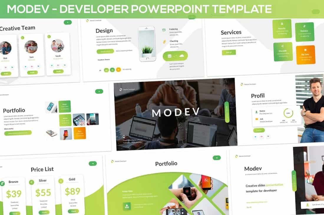 Modev - PowerPoint Presentation Template